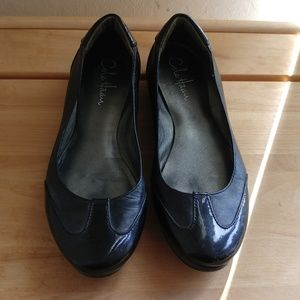 Cole Haan Black Leather/Patent Leather Flats